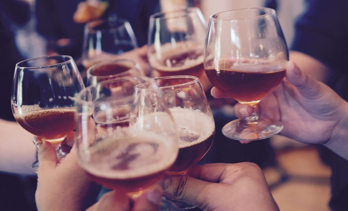 fête avec de l'alcool