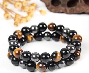 bracelet obsidienne noire