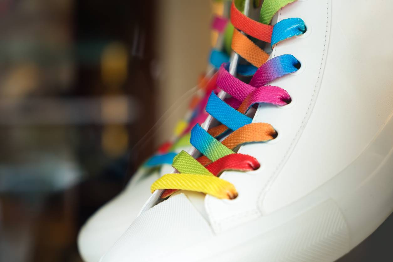 lacets chaussures mode
