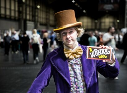 une tablette de chocolat Wonka